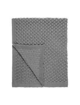 Little Home At John Lewis Kendall Chunky Knitted Throw, Blue/Grey by Little Home At John Lewis