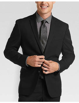 Kenneth Cole Reaction Techni Cole Black Slim Fit Suit by Kenneth Cole