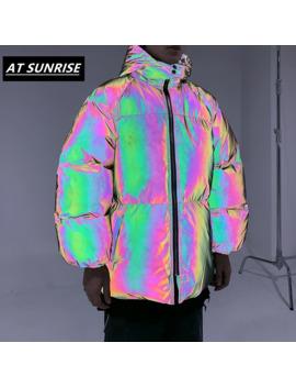 3 M Full Reflective Jacket 2019 Men/Women Hip Hop Winter Thick Parkas Windbreaker Streetwear Warm Jackets Harajuku Coat Outwear by Ali Express.Com