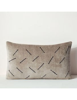 Dash Recycled Fabric Pillow Cover   Gray by West Elm