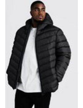 Big & Tall Quilted Jacket With Check Print by Boohoo Man