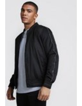 Button Through Padded Bomber Jacket by Boohoo Man