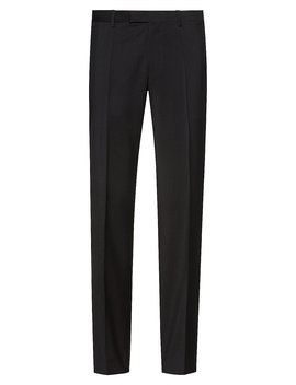 Regular Fit Trousers In Virgin Wool Poplin Regular Fit Trousers In Virgin Wool Poplin by Boss