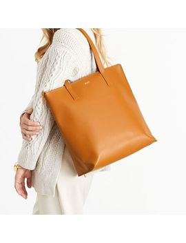 Everyday Italian Leather Zipper Tote by Mark & Graham