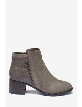 Forever Comfort® Block Heel Ankle Boots by Next