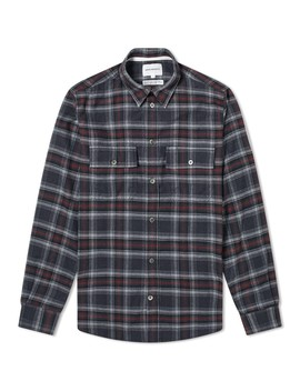 Norse Projects Villads Brushed Flannel Check Shirt by Norse Projects