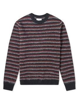 Norse Projects Sigfred Brushed Stripe Crew Knit by Norse Projects