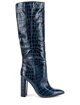 Triumph Boot In Blue Croccodile by Steve Madden