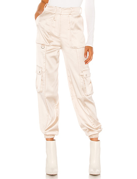 Port Joggers In Nude Champagne by H:Ours
