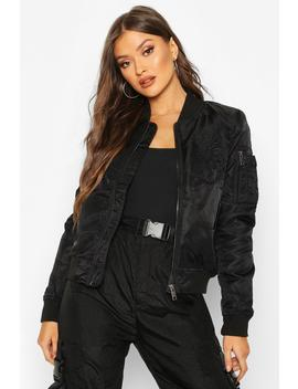 Embroidered Bomber Jacket by Boohoo