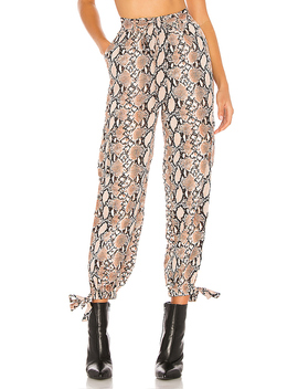 Simi Pants In Tan Snake by H:Ours
