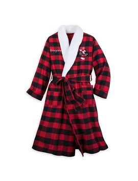 Mickey Mouse Holiday Plaid Robe For Adults – Personalized | Shop Disney by Disney