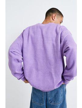 Iets Frans... – Überfärbtes Sweatshirt In Lila Mit Rundhalsausschnitt by Iets Frans... Shoppen