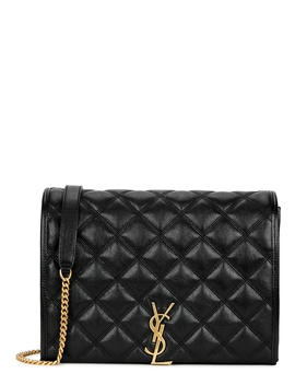 Becky Small Black Leather Shoulder Bag by Saint Laurent