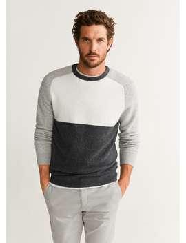 Strukturierter Pullover Aus Baumwoll Woll Mix by Mango