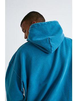 Iets Frans...– Überfärbter Hoodie In Blaugrün by Iets Frans... Shoppen