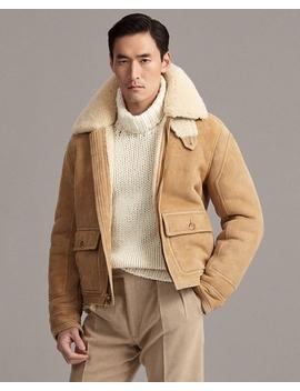 Shearling Bomber Jacket by Ralph Lauren