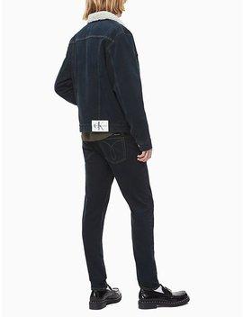 Regular Fit Sherpa Denim Trucker Jacket by Calvin Klein