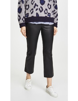Crop Leather Pants by Theory