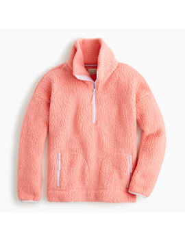 Polartec® Sherpa Fleece Half Zip Pullover Jacket by Polartec