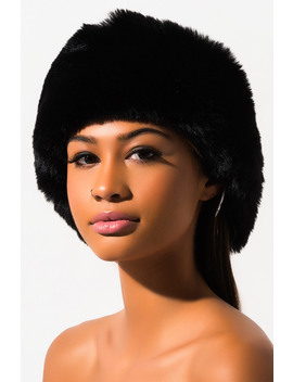 Posh Girl Faux Fur Wrap Around Headband by Akira