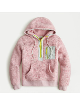 Polartec® Sherpa Fleece Half Zip Hoodie by Polartec