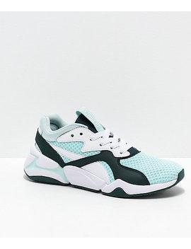 Puma Nova 90s Bloc Aqua & Green Shoes by Puma