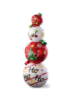 "33"" Stacked Christmas Ornaments Decoration by National Tree Company"