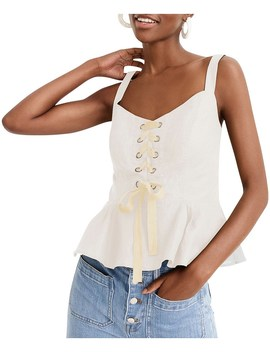 Ransu Lace Up Top by Jcrew