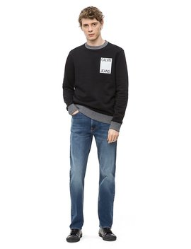 Relaxed Straight Houston Mid Blue Jeans by Calvin Klein
