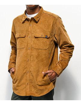 Empyre Luke Brown Corduroy Woven Long Sleeve Shirt by Empyre