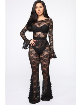 Lace Dream Pant Set   Black by Fashion Nova