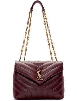 Red Small Loulou Bag by Saint Laurent