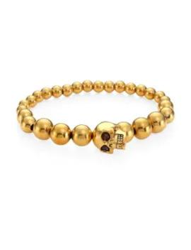 Brass Skull Ball Bracelet by Alexander Mc Queen