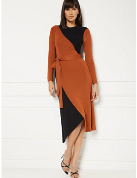 Sheena Colorblock Sweater Dress   Eva Mendes Collection by New York & Company