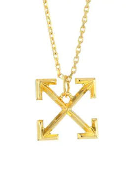 Goldtone Arrows Necklace by Off White