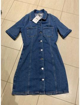 Ladies Zara Short Sleeve Denim Dress Size Large Blue Bnwt by Ebay Seller