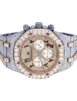 Audemars Piguet Royal Oak 41 Mm Chrono 18 K Rose Gold/ Steel Diamond Watch 35.5 Ct by Ebay Seller