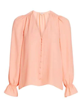 Bolona Long Puff Sleeve Blouse by Joie