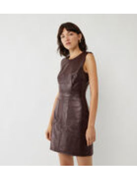 Faux Croc Pinafore Dress by Warehouse