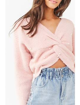 Twisted Faux Pearl Sweater by Forever 21