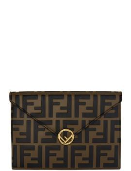 Brown & Black 'forever Fendi' Envelope Pouch by Fendi