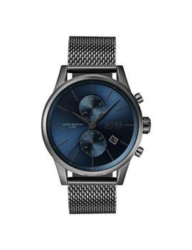 Neu Hugo Boss 1513677  Edelstahlgeweb<Wbr>E Chronograph Blaues Dial Quarz Herrenuhr by Hugo Boss