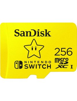 256 Gb Micro Sdxc Memory Card For Nintendo Switch by San Disk