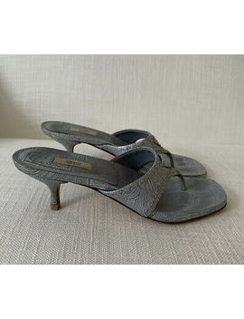 <Span><Span>Prada Kitten Heel Sandal Shoes & Matching Handbag Size 37.5 Used </Span></Span> by Ebay Seller
