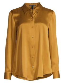 Classic Collar Silk Blouse by Eileen Fisher