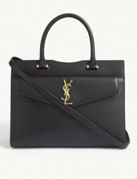 Uptown Leather Shoulder Bag by Saint Laurent