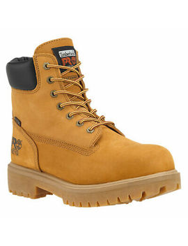 Timberland Pro Soft Toe Direct Attach 6 Inch Wheat Leather Work Boots A22 Uk by Ebay Seller