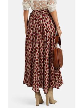 Geometric Print Pleated Skirt by Needles