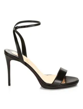 Loubi Queen Leather Ankle Strap Sandals by Christian Louboutin